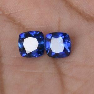 Pair Natural Fine Ceylon Blue Sapphire